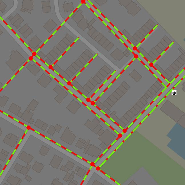 Netzleitsystem geobasierte Netzdarstellung bei Nacht